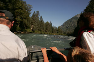 Navigating the rock garden on the beautiful Exchamsiks River