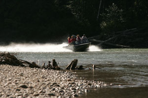 Jet Boat tours on the Exchamsiks River