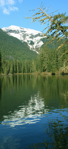 Remote wilderness lake in Northern British Columbia